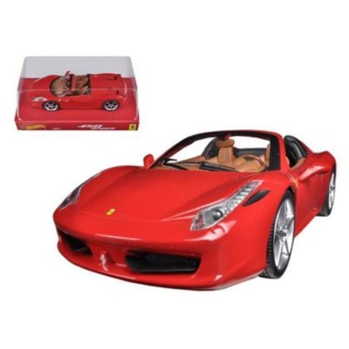 Hot wheels Ferrari 458 Italia Spider Red 1-24 Diecast Car Model (DTDP2320)