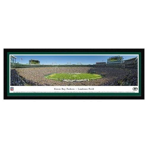 NFL Blakeway Stadium 50 Yard Line View Select Framed Wall Art - Green Bay Packers