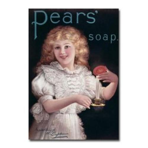 Trademark Fine Art 22 in. x 32 in. Pears Soap Canvas Art