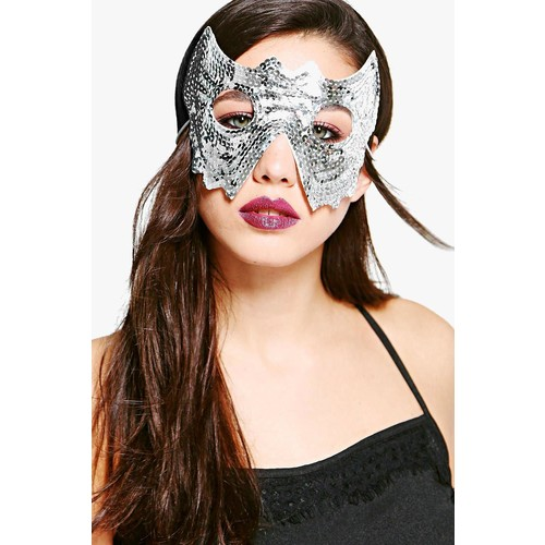 Robyn Sequin Halloween Headband Face Mask