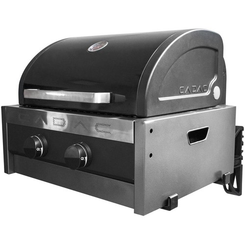 Cadac Tailgater Chef 2-Burner Portable Propane Gas Grill with RV Bracket