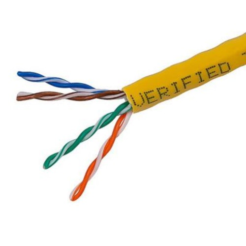 Monoprice 1000' 24AWG Cat5e UTP Solid Bulk Ethernet Cable, Yellow
