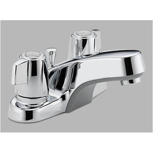 Peerless P246LF Classic Two Handle Lavatory Faucet, Chrome