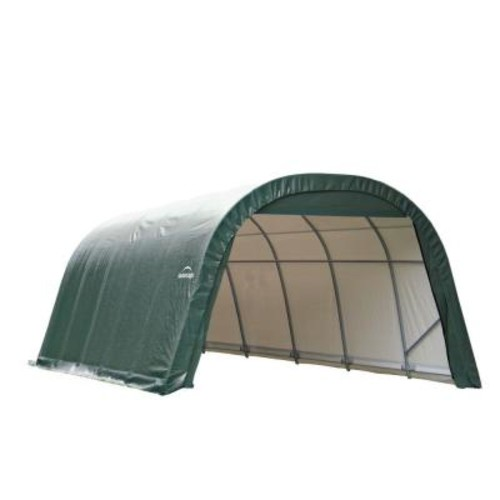 ShelterLogic 12 ft. x 20 ft. x 8 ft. Green Steel and Polyethylene Garage Without Floor