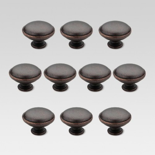 Liberty Hardware Round Knob - 10-Pack - Oil-Rubbed Bronze