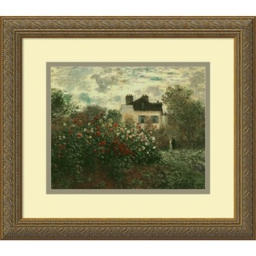 Framed Art Print 'Poppies at Argenteuil, 1873' by Claude Monet 22 x 17-inch