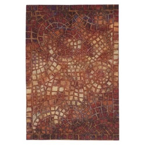 Liora Manne Visions V Arch Tile Red Area Rug