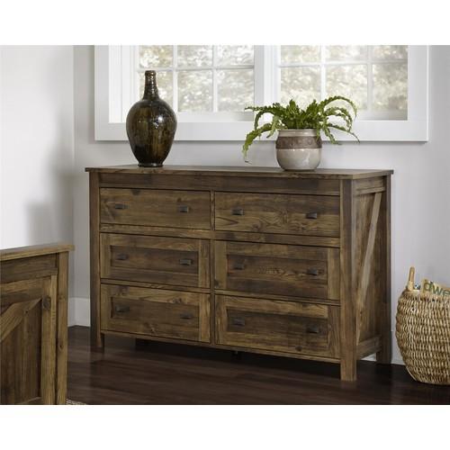 Dorel Farmington Century Barn Pine 6 Drawer Dresser