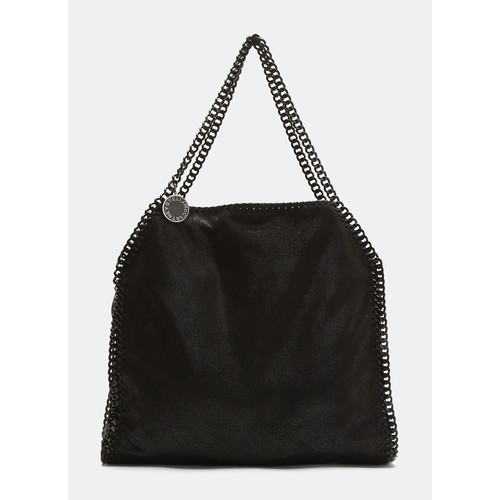 Shaggy Deer Falabella Chain Tote Bag in Black