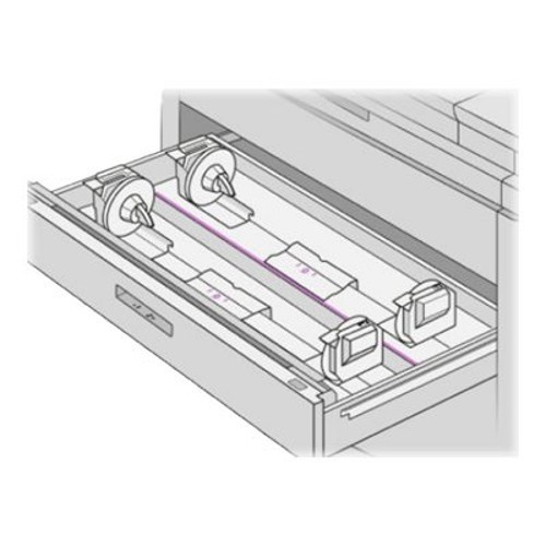 HP Inc. Media drawer and tray - 2 rolls in 1 tray(s) - for PageWide XL 4000, 4500, 5000, 8000 (CZ318A)