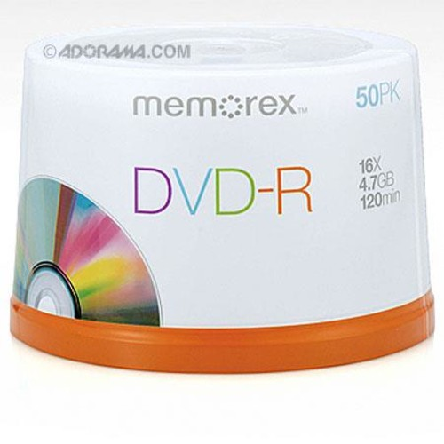 Memorex Disk DVD-R (4.7GB) 16x with Spindle, 50 Pack 05639