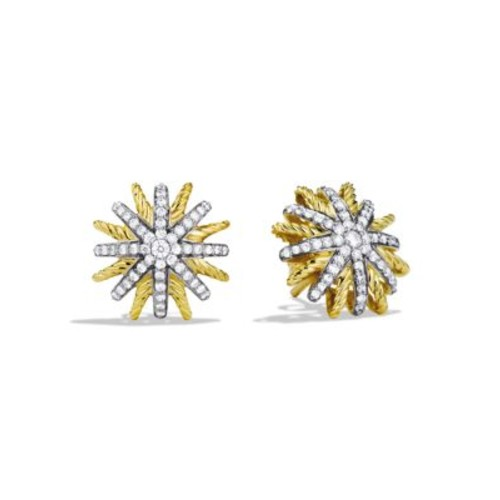 Starburst Extra-Small Earrings with Diamonds in G