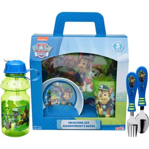 Zak! Paw Patrol Kids 6 Piece Dinner and Drinkware Set