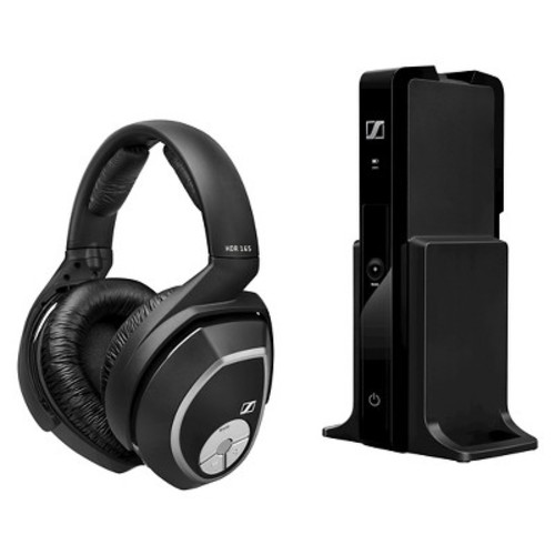Sennheiser Cordless Headset with Bass Boost Ideal for Television - Black (RS165)