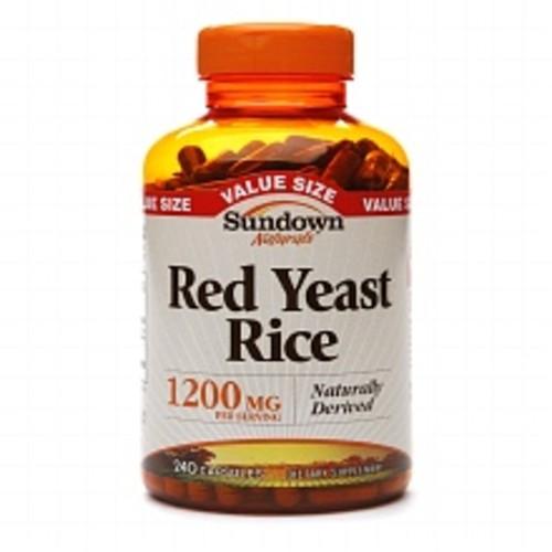Sundown Naturals Red Yeast Rice 1200 mg Dietary Supplement Capsules