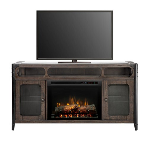 Dimplex Paige 60 in. Freestanding Media Console in Noir Brown