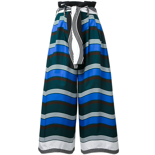 FENDI Cropped Wide-Leg Trousers