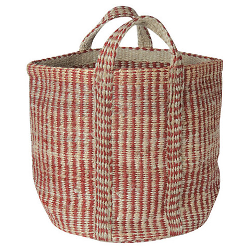Red & Natural Hemp Basket