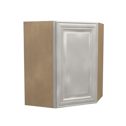 Home Decorators Collection Assembled 24x30x12 in. Brookfield Wall Angle Cabinet with 1 Door Left Hand in Pacific White