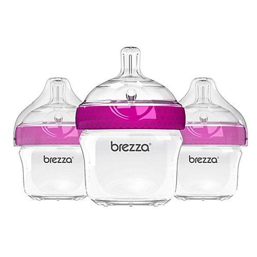 Baby Brezza 3-Pack Polypropylene Bottles in Pink