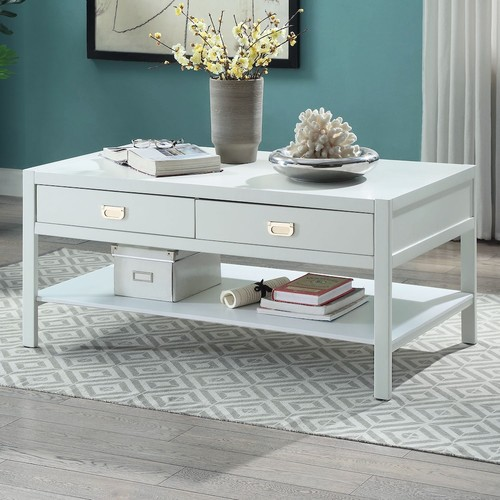 Linon Peggy 2-Drawer Coffee Table
