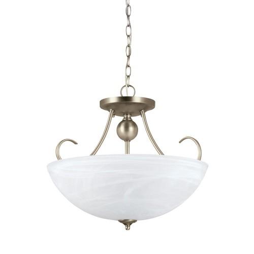 Sea Gull Lighting Lemont 3-Light Antique Brushed Nickel Pendant