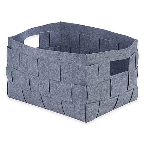 Honey-Can-Do X-Large Woven Felt Bin in Grey