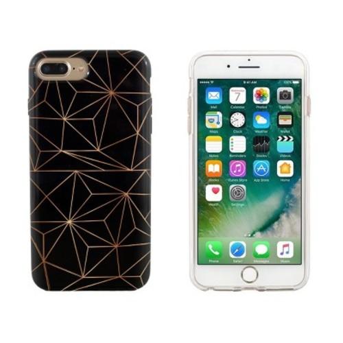 End Scene iPhone 8 Plus/7 Plus/6s Plus/6 Plus Case - Black Copper Geo
