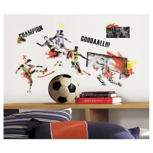 RoomMates Men's Soccer Champion Peel and Stick Wall Decals