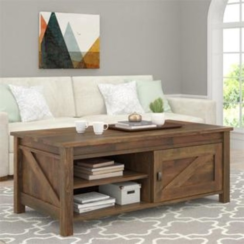 Ameriwood Home Altra Furniture Farmington Coffee Table in Century Barn Pine