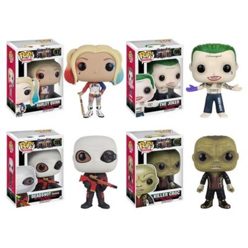 Funko - Suicide Squad: POP! Movie Collectors Set: Harley Quinn, Joker Shirtless, Deadshot(masked) & Killer Croc