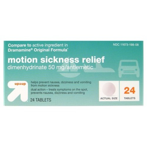 Up & Up Motion Sickness Relief, 24 tablets, Compare to active ingredient in Dramamine Original Formula