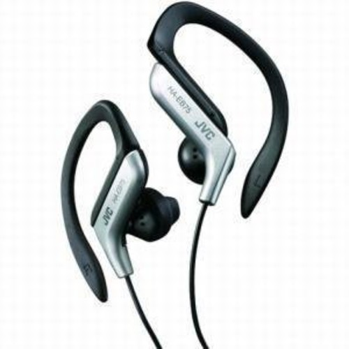 JVC HA-EB75S Sports Ear Clip Headphones Silver