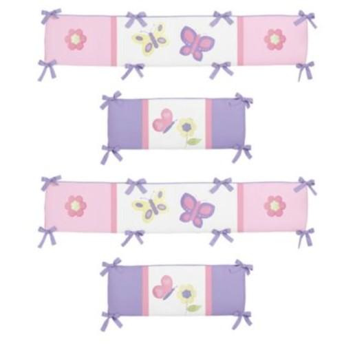 Sweet Jojo Designs Butterfly Crib Bumper in Pink/Purple