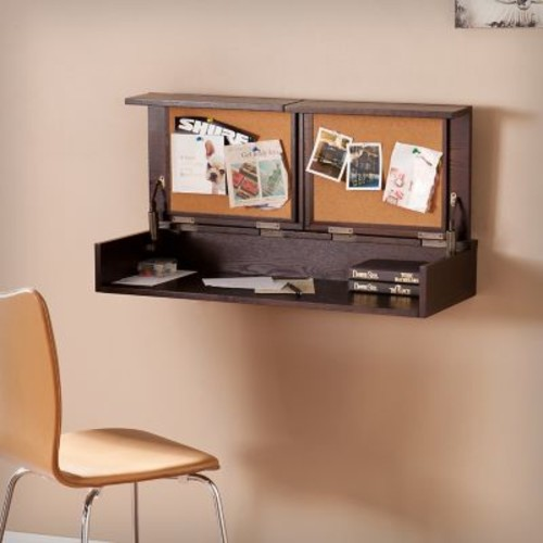 SEI Lexford Wall Mount Desk - Espresso (HO6104)