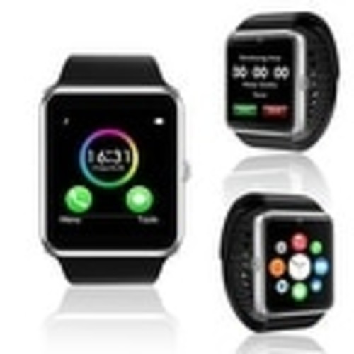 Indigi New Silver GT8 Universal SmartWatch & Phone - Bluetooth Sync + Built-in Camera + Pedometer + SIM Slot + (3G Unlocked)