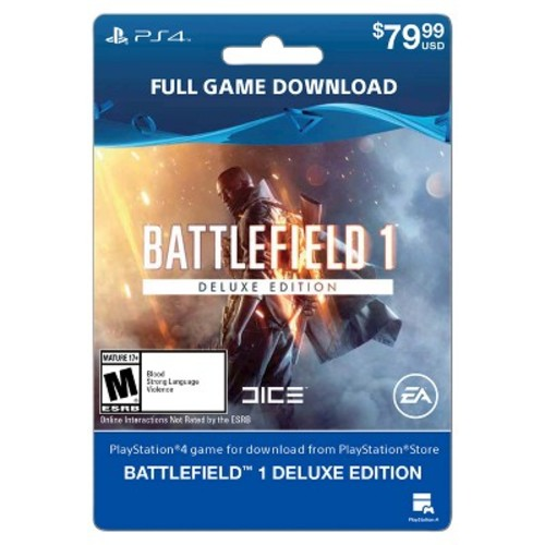 PlayStation 4 Battlefield 1: Deluxe Edition $79.99 - Email Delivery