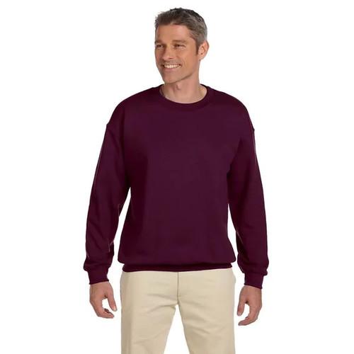Ultimate Cotton 90/10 Fleece Men's Crew-Neck Maroon Sweater