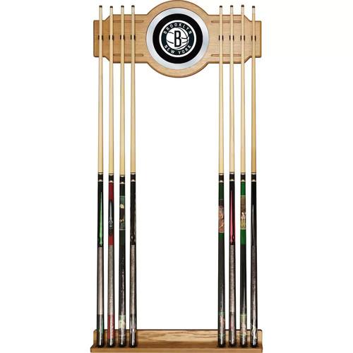 Brooklyn Nets Billiard Cue Rack with Mirror