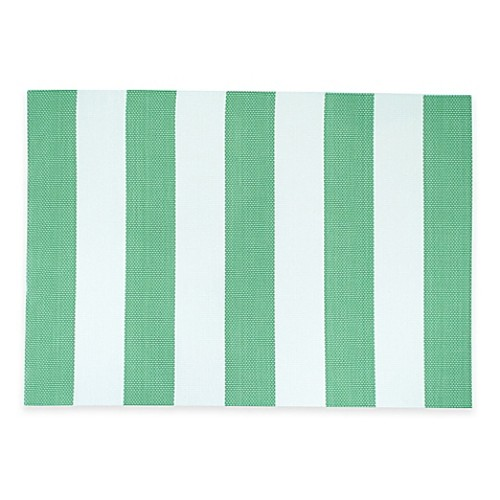 Cabana Stripe Woven Placemat in Green