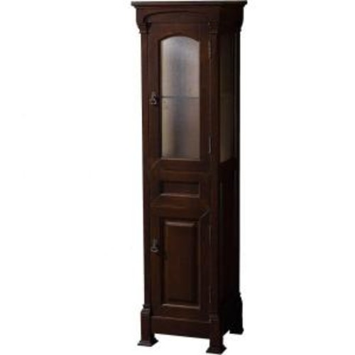 Wyndham Collection Andover 18 in. W x 65 in. H x 16 in. D Bathroom Linen Storage Tower Cabinet in Dark Cherry