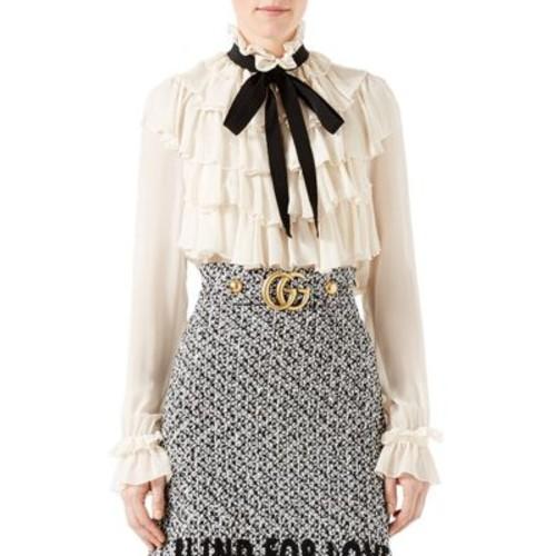 GUCCI Silk Flounce Shirt