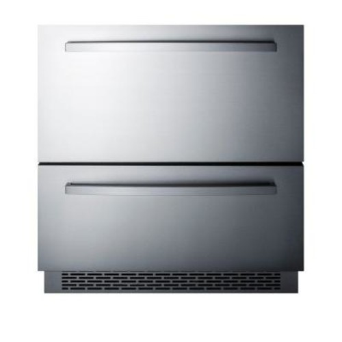 Summit Appliance 30 in. 5.3 cu. ft. Freezerless Refrigerator Drawer in Stainless Steel