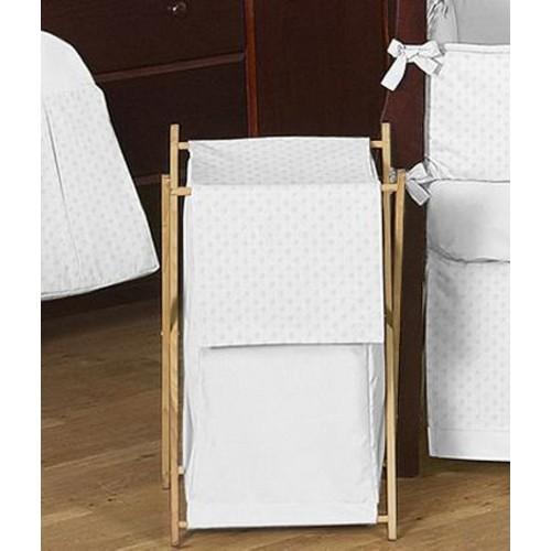 Sweet Jojo Designs Minky Dot White Collection Laundry Hamper