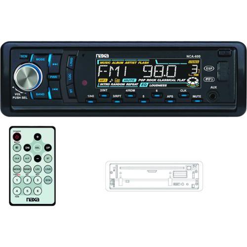 NAXA NCA600 FOLD DOWN DETACHABLE AM FM MP3 CD USB SD WITH REMOTE - NCA600