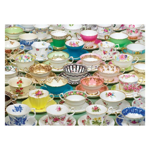Tea Cups 1,000-pc. Jigsaw Puzzle