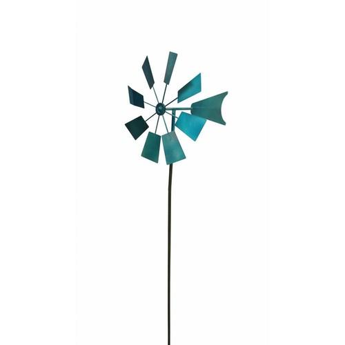 Alpine 52 in. Blue Metal Windmill Stake