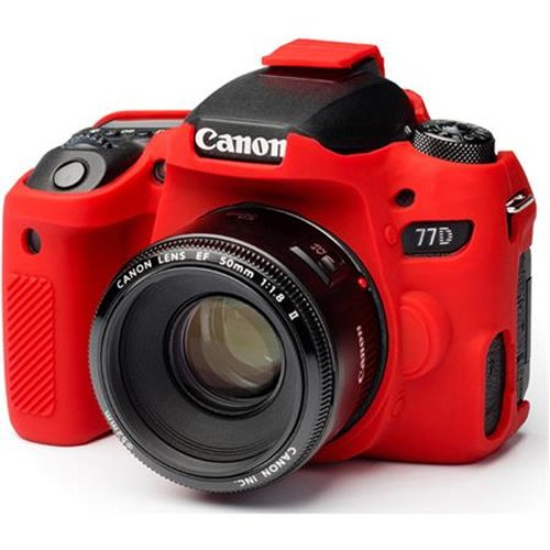 easyCover Camera Protective Case for Canon 77D, Red