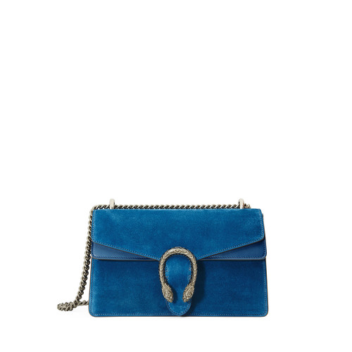 GUCCI Dionysus Small Suede Shoulder Bag, Bright Blue