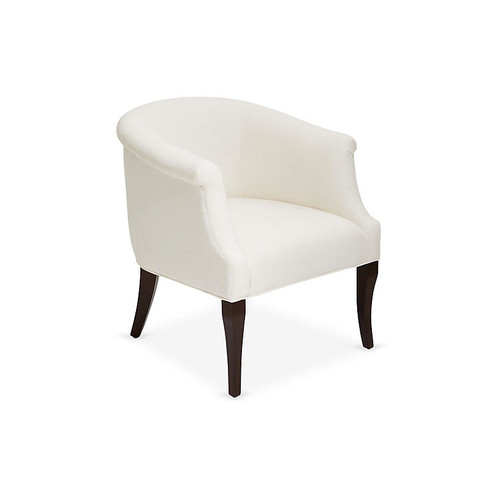 Selby Club Chair, White Linen